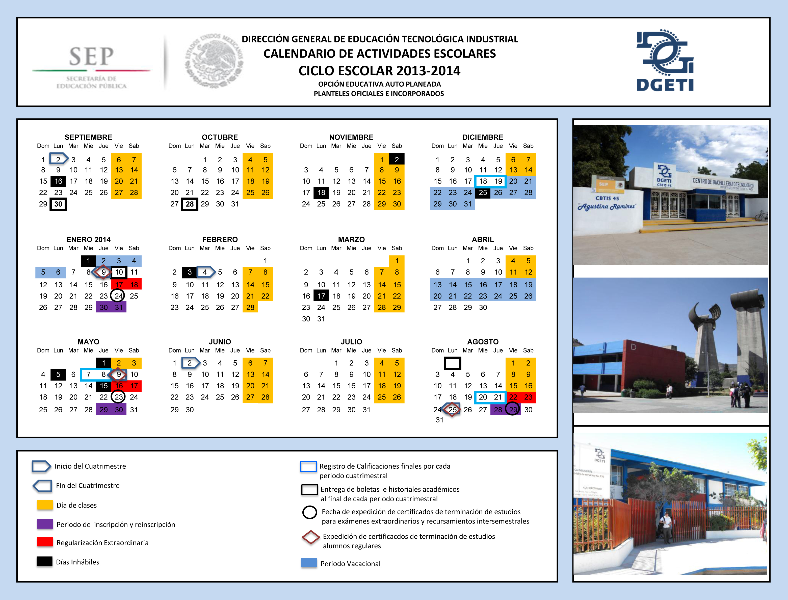 Calendario Escolar Para La Prepa 2016 2017 | Search Results | Calendar ...